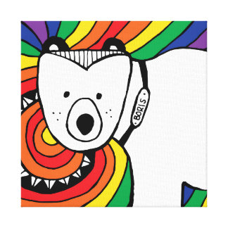 Boris the Polar Bear Canvas Print