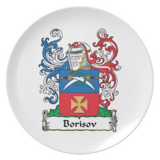 Borisov Family Crest Party Plates
