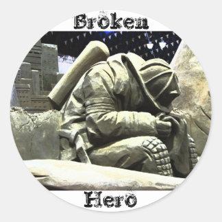 Borken Hero Classic Round Sticker