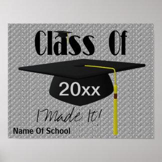 Borla del casquillo de la graduación le hice el po póster