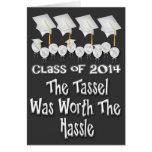 Borla digno de la graduación 2014 del molestia C d Felicitacion
