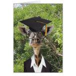 Borla graduada del oro de la jirafa tarjetas