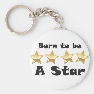 Born2BStar Basic Round Button Keychain