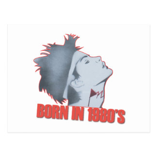 BORN 1980'S POSTCARD