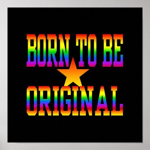Born 2 Be Original poster, customize Poster