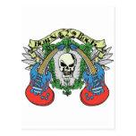 Born 2 Rock Skull Postcard