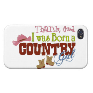 Born a Country girl iPhone 4 Cover