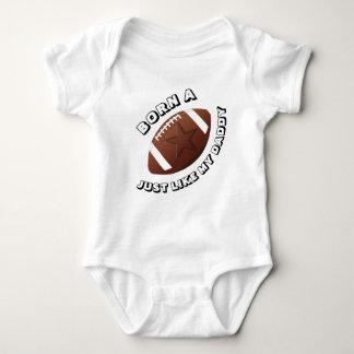 Born a Football Star Just Like My Daddy Baby Bodysuit