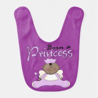 Born a Princess African American Baby Bib
