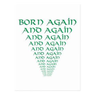 Born Again and Again Postcard
