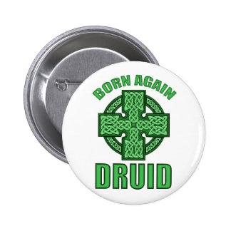 Born Again Druid Pinback Button