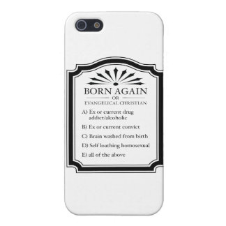 Born Again Means Crazy Cover For iPhone SE/5/5s