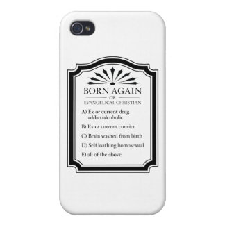 Born Again Means Crazy iPhone 4/4S Covers