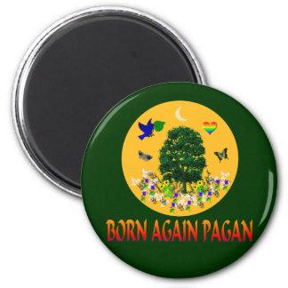 Born Again Pagan 2 Inch Round Magnet