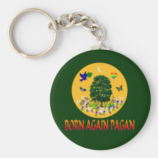Born Again Pagan Key Chains