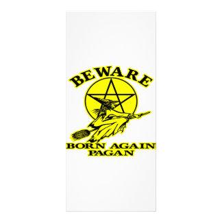 Born Again Pagan Rack Card Design