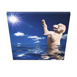 Born Again Puppy Mill Rescue Standard Poodle Canvas Print