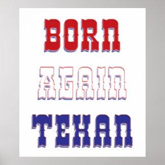 Born Again Texan Print