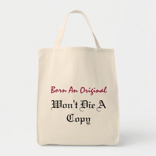 BORN AN ORIGINAL TOTE BAG