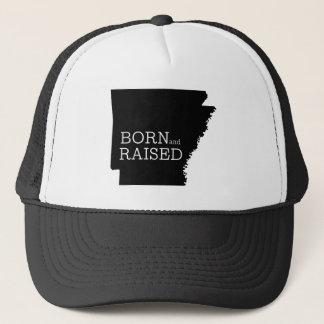 Born and Raised Arkansas Trucker Hat