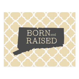 Born and Raised Connecticut Postcard