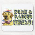 Born And Raised Democrat  Mousepad