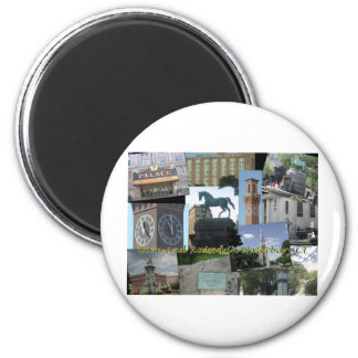 Born and Raised in Waterbury CT 2 Inch Round Magnet
