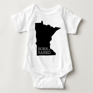 Born and Raised Minnesota Baby Bodysuit
