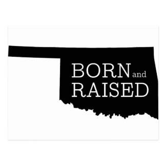 Born and Raised Oklahoma Postcard