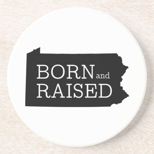 Born and Raised Pennsylvania Drink Coaster