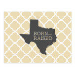 Born and Raised Texas Postcard