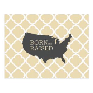 Born and Raised USA Postcards
