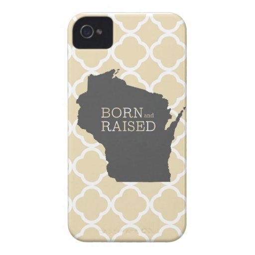 Born and Raised Winsonsin iPhone 4 Case-Mate Case