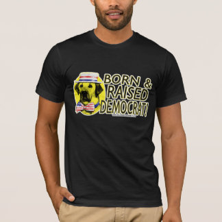 Born And Raised Yellow Dog Democrat Shirt