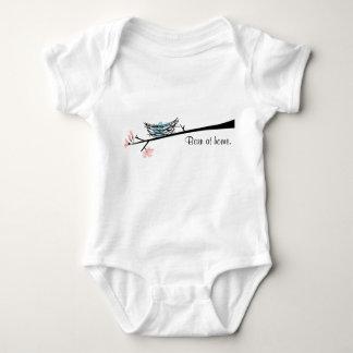 Born At Home Bird Nest Baby Bodysuit