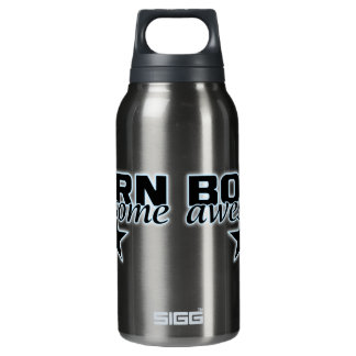 Born Awesome custom Insulated Water Bottle