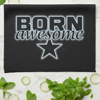 Born Awesome kitchen towels