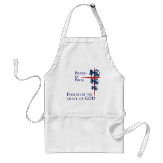 Born British English By the grace of GOD Apron