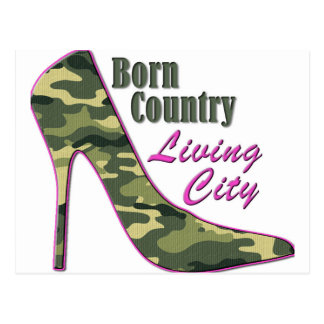 Born Country, Living City Postcard