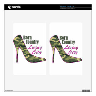 Born Country, Living City Skin For Kindle Fire