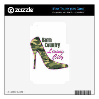 Born Country, Living City Skins For iPod Touch 4G