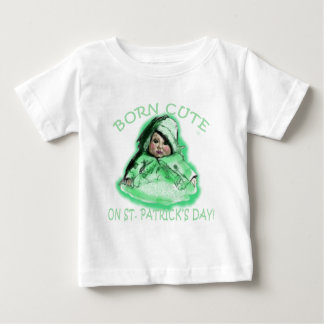 Born Cute on St Patricks Day Products Baby T-Shirt