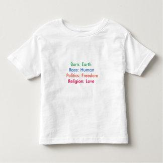 Born: Earth; Race: Human; Religion: Love; Tee kids