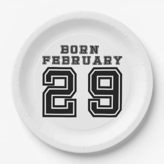 Born February 29 Paper Plate