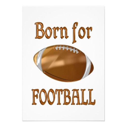 Born for Football Personalized Invite
