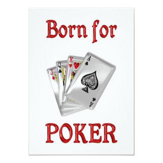 Born for Poker 5x7 Paper Invitation Card