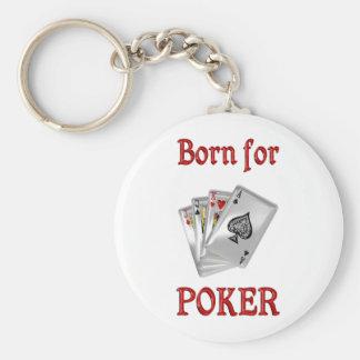Born for Poker Basic Round Button Keychain