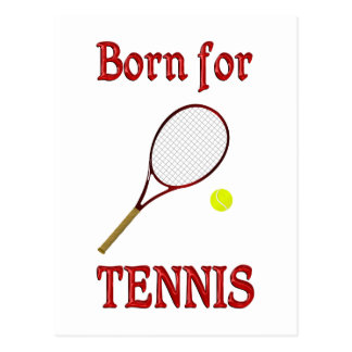 Born for Tennis Postcard