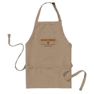 Born Free Christian kitchen/bbq apron