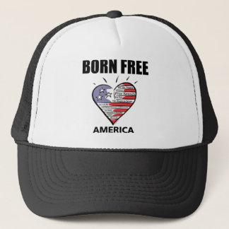 BORN FREE KEEP AMERICA STRONG TRUCKER HAT